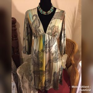 Charlotte Russe Blend of Greens Tunic